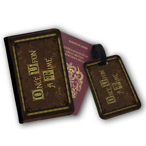 Once Upon A Time Livre Roman Passport Wallet Travel Protection Flip Cover Case-afficher Le Titre D'origine