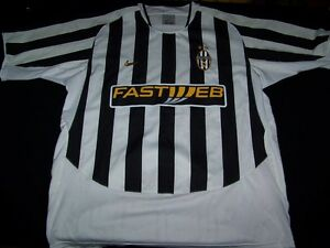 save off 6dd77 a4082 Details about Juventus Soccer Jersey FC Football Club Fastweb Nike striped  shirt size XL