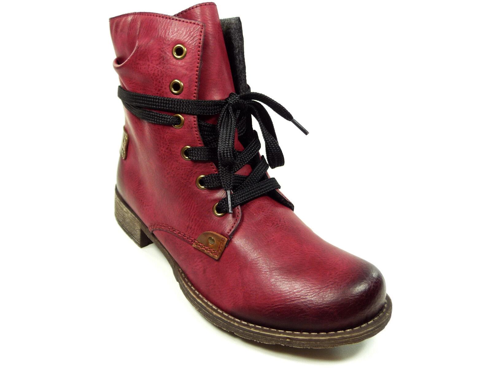 Rieker Damenschuhe Stiefelette neu Stiefel mit Reißverschluss neu Stiefelette in Rot ... 6f47f0