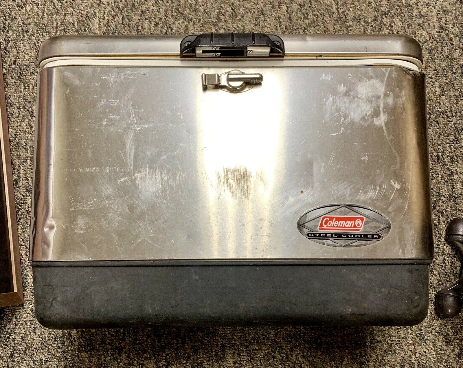 Coleman 54 Quart Stainless Steel Belted Cooler Model 6150 6155