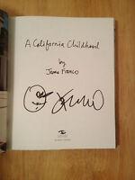 Signed California Childhood By James Franco Hc 1/1 Doodle + Photo