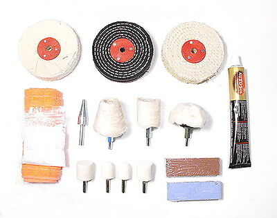 Comprehensive Car / Motorbike Alloy Wheel Polishing Kit