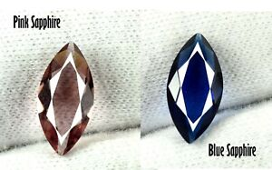 Natural Pink & Blue Sapphire 4.05 Ct Marquise Cut Gemstone Pair AGI Certified