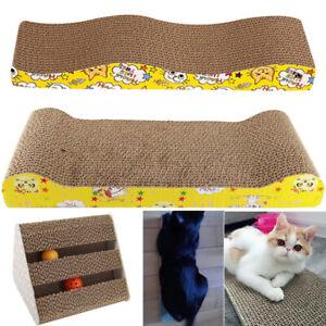 Pets-Cat-Kitten-Corrugated-Scratch-Board-Pad-Bone-Scratcher-Bed-Mat-Claws-Care