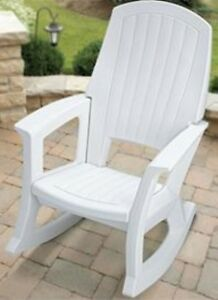 Merveilleux Image Is Loading Outdoor Patio Rocking Chair Plastic Chairs Resin Rocker