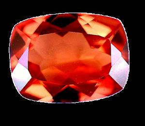 4.50 Ct Natural Fire Orange Sapphire CERTIFIED Sparkling Tanzania Gemstone
