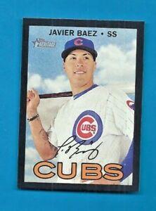 the best attitude 78e14 e43cb Details about JAVIER BAEZ 2016 HERITAGE WALMART BLACK BORDER Chicago Cubs