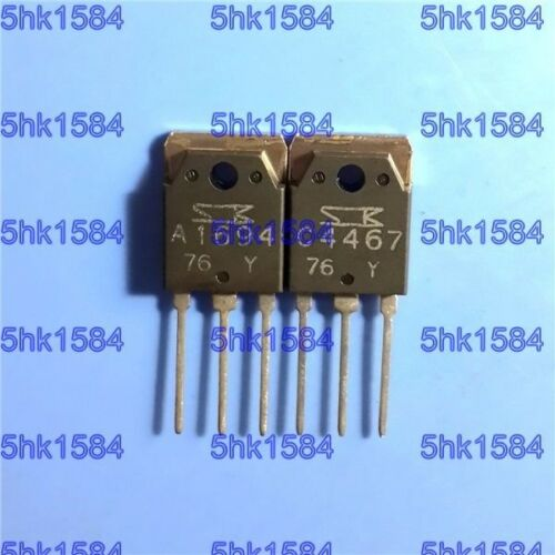 1pairs OR 2PCS  Transistor SANKEN TO-3P 2SA1694-Y//2SC4467-Y 2SA1694//2SC4467 A169