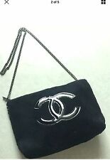 Top Brand  Black Cosmetic Makeup Bag Pouch Cross-Body Bag NEW