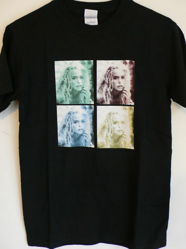 FARRAH Fawcett Official Website Out of Print TSHIRT small NEW Charlies Angels SS