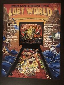 Escape From The Lost World Pinball Machine Flyer