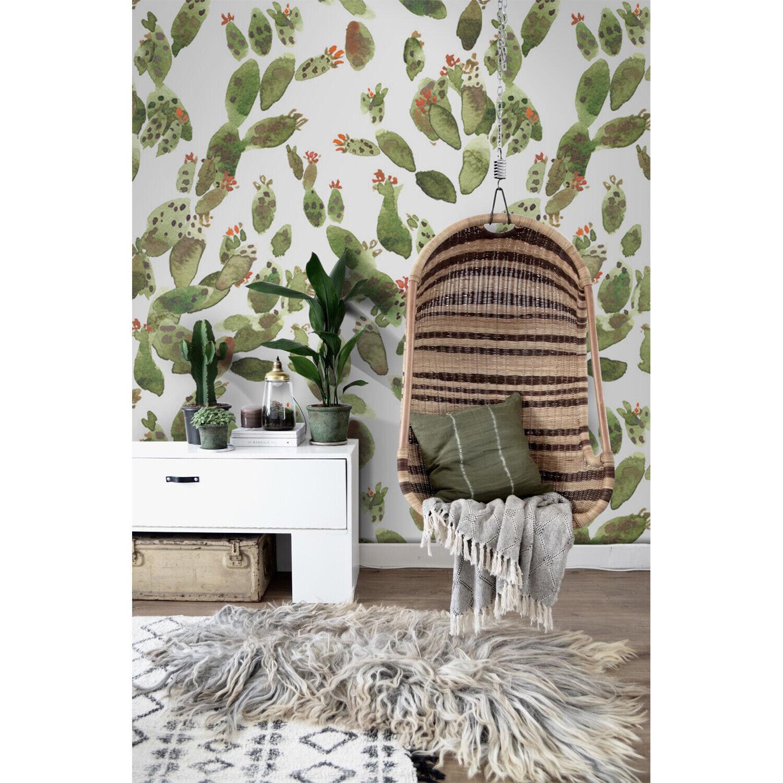 Cacti Non-Woven wallpaper Farbeful wall mural Cactus waterFarbe Home decor art