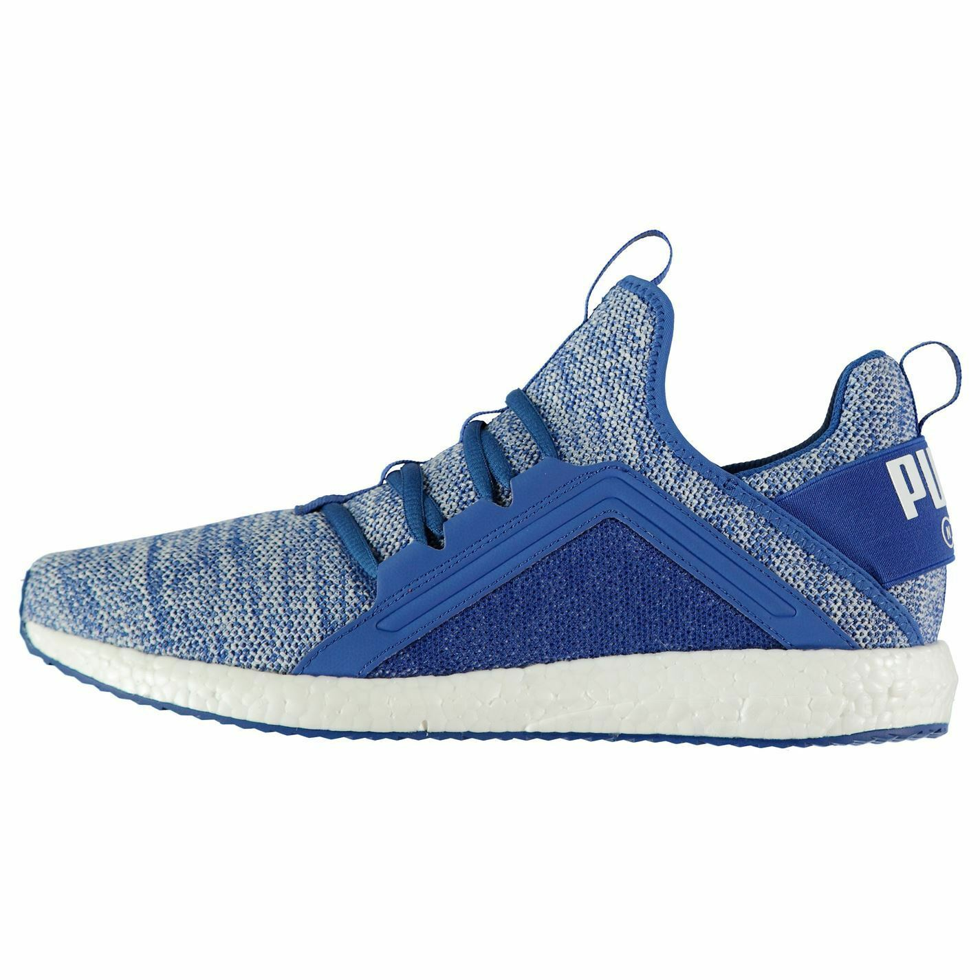 Puma Mega NGRY Knit Trainers hommes bleu/blanc Athletic SneakersChaussures