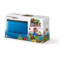 Nintendo 3DS XL Console With Super Mario 3D Blue Very Good Portable System 6Z