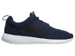 b1409d64bda21 Nike Roshe One Mens 511881-405 Midnight Navy Blue Mesh Running Shoes ...