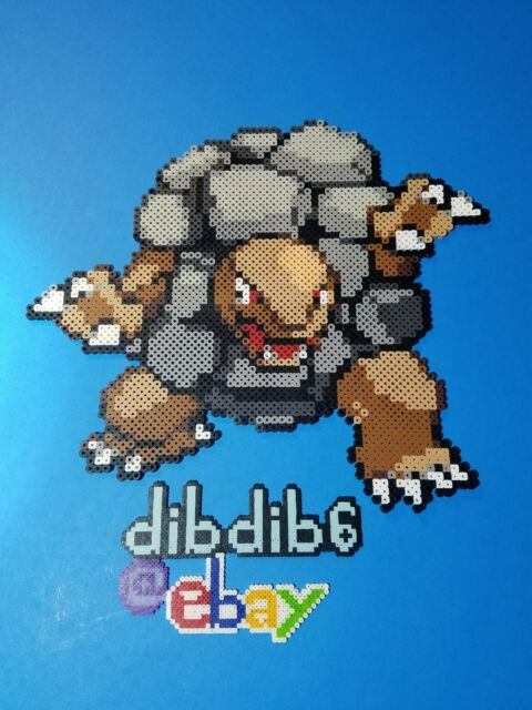 Golem Kandi Perler Pokemon Go Rave Edc Plur Hama Wall Art Bead Pixel Sprite Ebay