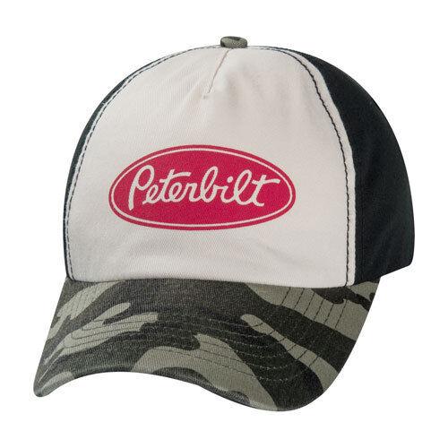 Peterbilt Motors Logo Vintage Camo Trucker Cap Hat
