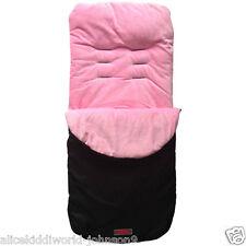 New Black Pink  fleeced cosytoes footmuff liner for pushchair buggy pram HAUCK+