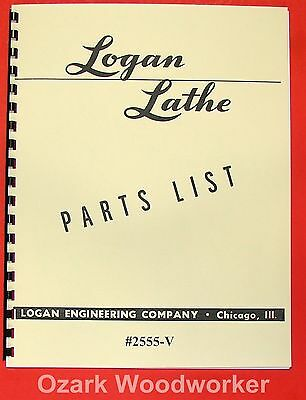 "Earnest Logan 12"" Metal Lathe 2555-v Parts List Manual 0453 Good For Energy And The Spleen Cnc & Metalworking Supplies"