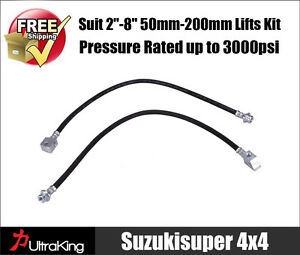 Extended-Brake-Lines-Hose-Nissan-Patrol-GQ-Y60-GU-Y61-Suspension-Spring-Lift-Kit