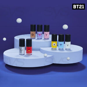 BTS BT21 Official Authentic Goods Nail Color 8.5ml By shushucosmetic + Tracking#