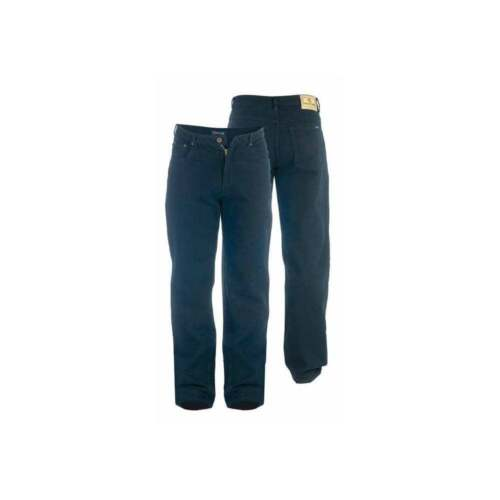 Rockford Mens Stretch Denim Jeans Blue Black Regular Big Kingsize Zip Fly BNWT