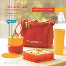 TUPPERWARE BEST LUNCH BOX WITH INSULATED BAG Smart Red Color