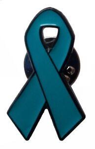 Image Is Loading Teal Ribbon Enamel Lapel Pin Badge Ptsd Anxiety