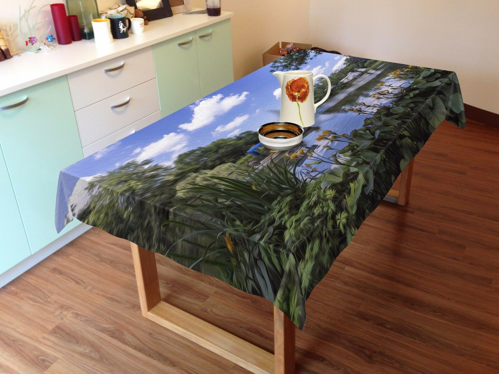 3D Sky lawn887 Tablecloth Table Cover Cloth Birthday Party Event AJ WALLPAPER UK