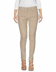 sale retailer 4987f 71bf7 Details about Pinko Womens Denim Slim Fit Trousers Jeans Beige 26(S) Made  In Italy
