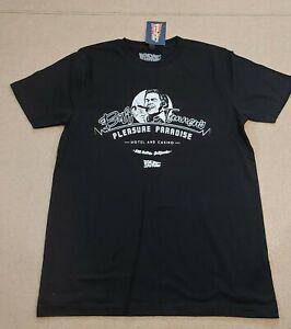 UNIVERSAL-CITY-STUDIO-homme-noir-manches-courtes-Retour-vers-le-Futur-T-Shirt-Taille-S