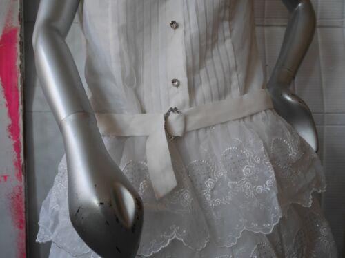 vestito anni vita con bianco Flapper Come nylon anni in '70 vintage anni Vestito Tulle M Vero '30 '70 ZHIxv