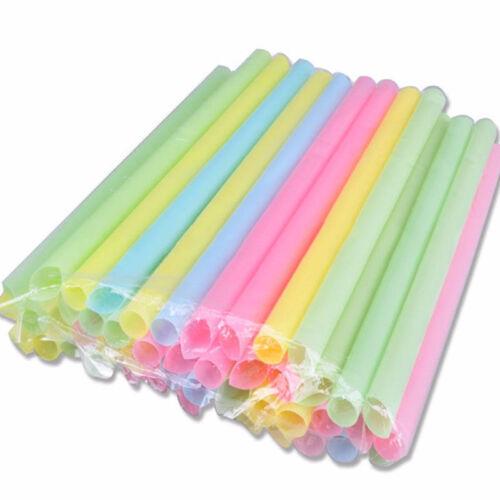100X-2000X Mix Color Large Drinking Straws For Bubble Tea Smoothie Milkshake