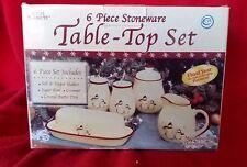 Royal Seasons Christmas Holiday Snowmen Stoneware Table Top Set Retired Dishes