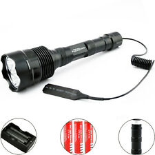 3800Lm CREE XML T6 LED Tactica Flashlight Torch Remote Pressure Switch+Batteries