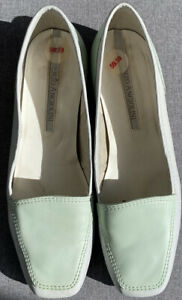 Enzo Angiolini Womens Shoes Mint And Pale Green Leather Loafers Vintage Size 6M