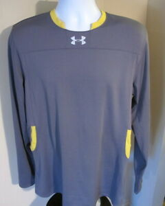 Men-039-s-Large-Under-Armour-Crew-Neck-Long-Sleeve-Gray-Athletic-Top-NWOT