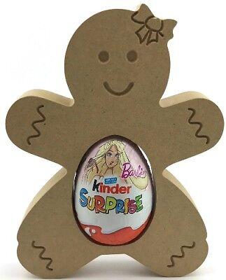 Pack of 10-18mm mdf Gingerbread Girl Kinder Egg Holder