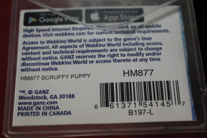 WEBKINZ SCRUFFY PUPPY-COMES WITH WITH WITH UNUSED SEALED CODE TAG-NICE GIFT 770929