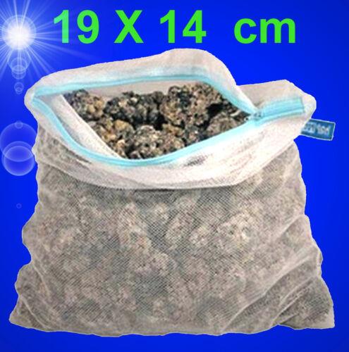 Aquarium Teich ❤️ 1 FILTERBEUTEL ✚ REIßVERSCHLUSS 19 X14 cm❤️ Filtersack Zubehör