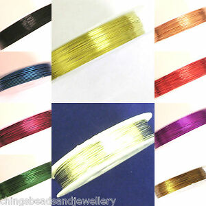 Copper-Wires-Tiara-Wrapping-Beading-Craft-Wires-Sizes-amp-Colours