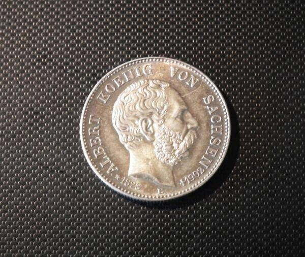 2 Mark 1902 Albert Roi De Saxe Sur Sa Mort Argent