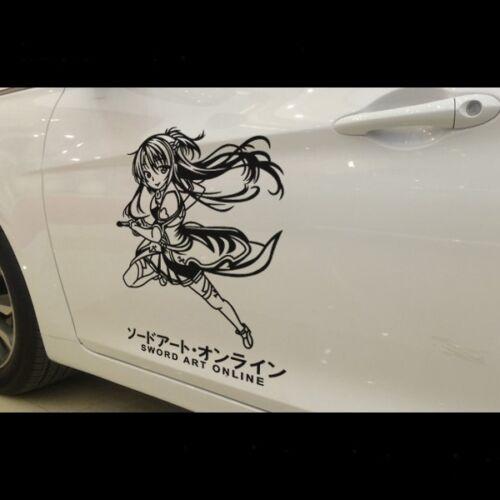 Sword Art Online car sticker Door decal Yuuki Asuna vinyl Japanese Anime SP