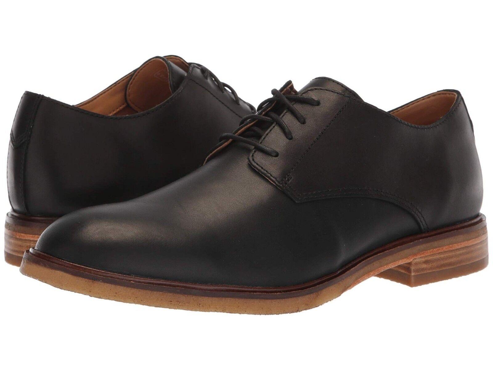 Zapatos De Vestir nuevo Para hombres Cuero Negro Clarks Clarkdale Luna Oxford Auténtico En Caja