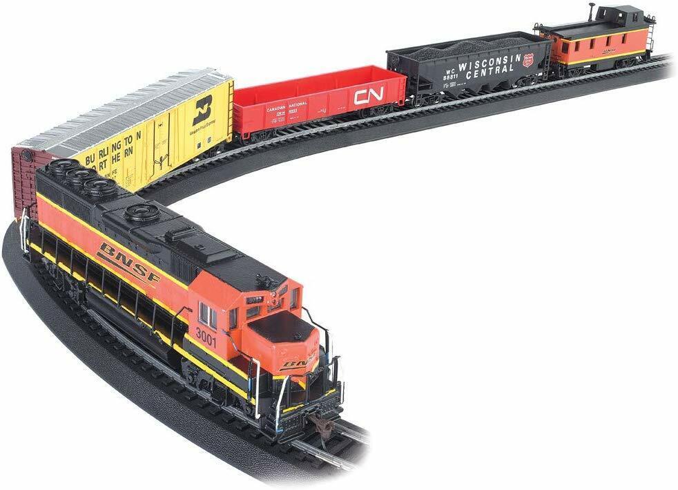 130 PC Electric Train Set Lights CN Car Locomotive Control Railway Signs Track