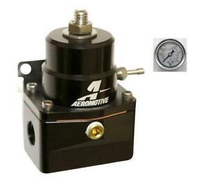 Aeromotive-A1000-6-Injected-Bypass-Regulator-13131-13109-BLACK-With-Gauge