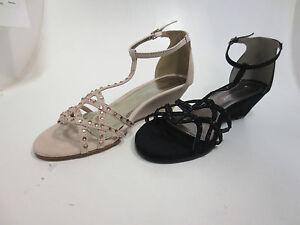 Anne Michelle f10277 DONNA NERO OD CARNE ZEPPA BASSA Sandalo con cinturini