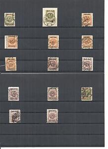 Memel-Litauen-1923-Einzelmarken-aus-MiNrn-167-175-o-geprueft-Huylmans-BPP