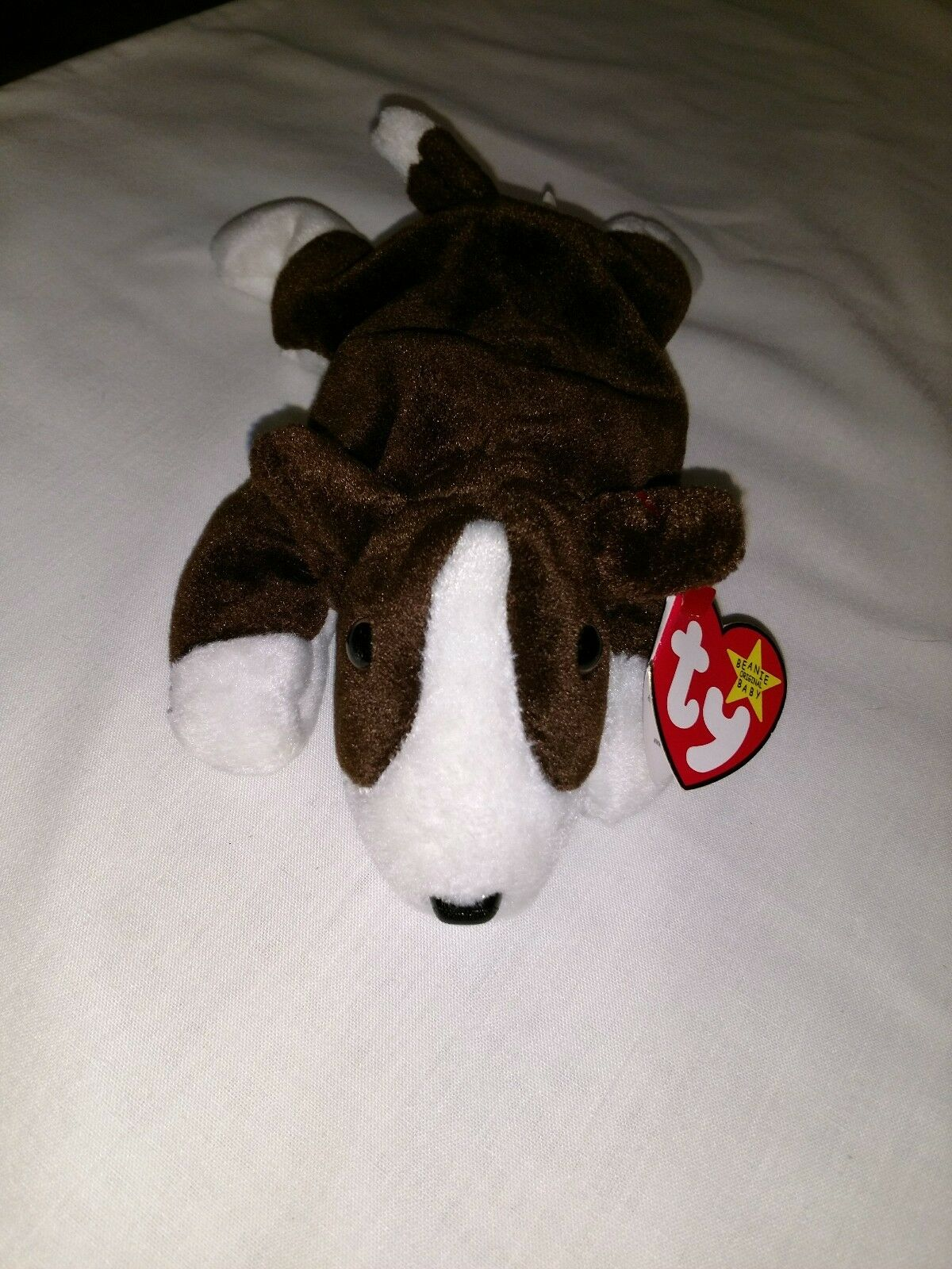 Ty Beanie Baby Bruno RARE with Tag Error, Retired