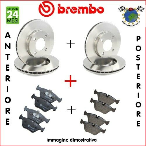 Kit Dischi e Pastiglie freno Ant+Post Brembo FIAT PANDA #6v #p